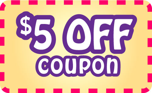 Sample prize - $5 off coupon